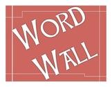 Word Wall bulletin board red