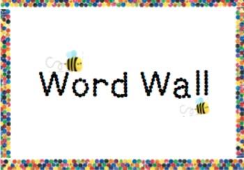 Word Wall- colourful printable classroom display