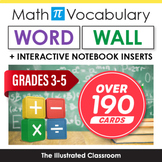 Math Word Wall & Interactive Notebook Inserts for 5th Grade