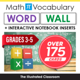 Grades 3-5 Math Word Wall & Interactive Notebook Inserts