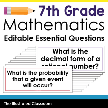 Essential Questions for 7th Grade Math by The Illustrated Classroom