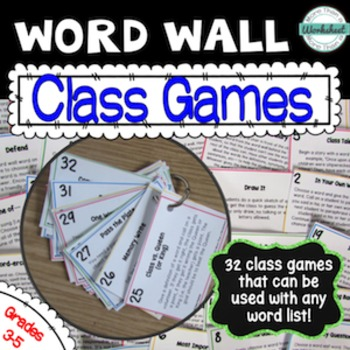Word Wall Class Games