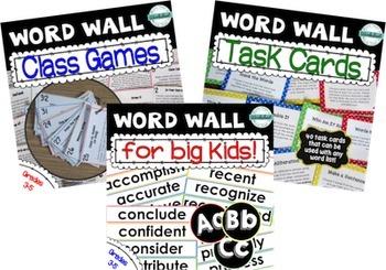 Word Wall for Big Kids Super Bundle