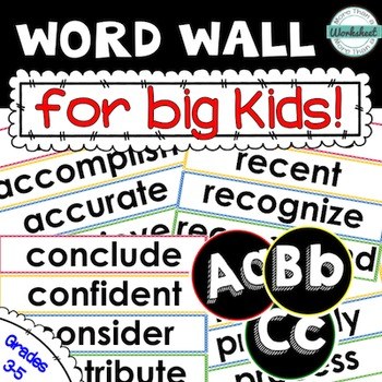 Word Wall Kit...for Big Kids (Grades 3-5)