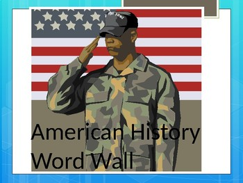 Word Wall for Colonization up to the Great Depression