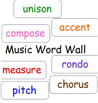 Word Wall for Elementary Music Class