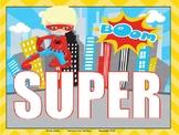 Word Wall for Fifth Graders Superhero Theme
