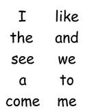 Word Wall for Kindergarten Journeys ALL Units (1-6)