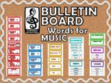 MUSIC Word Wall or Bulletin Board Decor (chevron design)