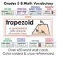 Grades 5-8 Math Word Wall & Interactive Notebook Inserts Bundle