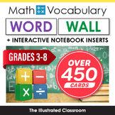 Grades 3-8 Math Word Wall & Interactive Notebook Inserts Bundle