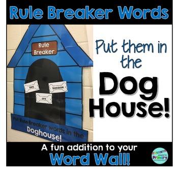 Word Wall for Rule Breaker Words