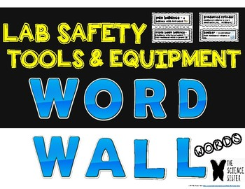 Word Wall for Science Lab Safety, Tools and Equipment