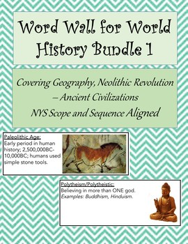 Word Wall for World History 1 Bundle