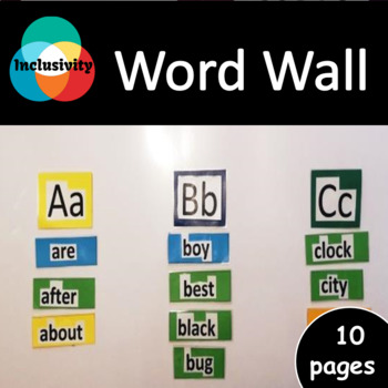 word wall balanced literacy working with words inclusivity tpt