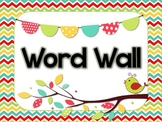 Word Wall header and Alphabet Cards