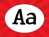 Word Wall letters/Alphabet - Superhero burst theme
