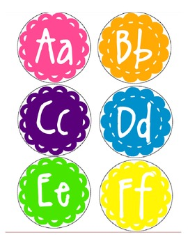 Word Wall letters- Candyland Pallete