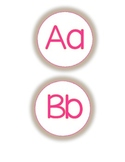 Word Wall letters- Pink and Orange A-Z