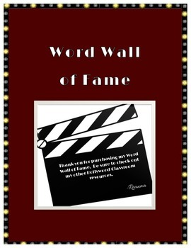 Word Wall of Fame