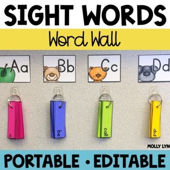 Word Wall on the Go - Portable Sight Word Wall!
