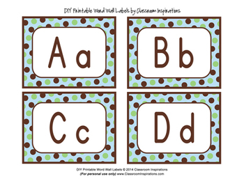 Word Wall or Multipurpose Labels – Editable – Turtle Time Classroom Theme