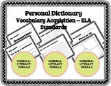 Personal Dictionary or Classroom Words of the Week