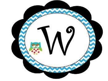 Word Wall owl theme