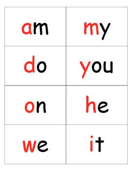 Word Wall printable word cards
