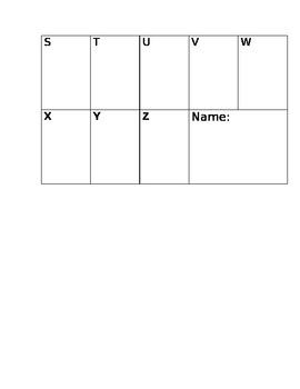Word Wall recording sheet