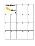Word Wall recording sheet