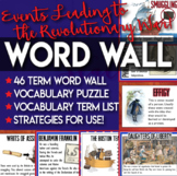 Word Wall the Events Leading to the Revolutionary War Vocabulary Practices