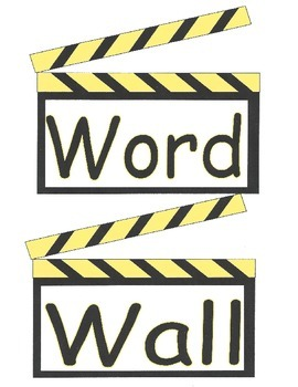 Word Wall using Clap Board Desing