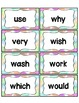 Word Wall with Dolch Sight Words and Picture Cards (Pastel