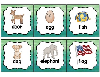 Word Wall with Dolch Sight Words and Picture Cards Watercolor Kids