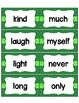 Word Wall with Dolch Sight Words and Picture Cards (green)