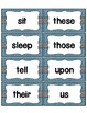 Word Wall with Dolch Sight Words and Picture Cards (light blue)