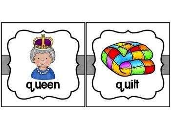 Picture Cards to teach beginning sounds for word wall or other use