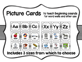 Picture Cards to teach beginning sounds for word wall or o