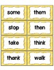 Word Wall with Dolch Sight Words and Picture Cards Sunny Yellow Kids