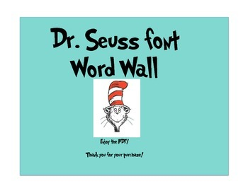 Word Wall with Dr.Seuss font