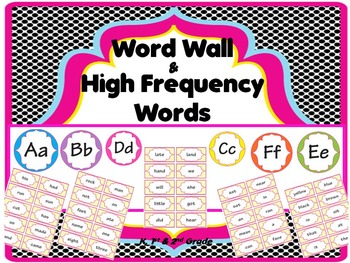 Word Wall with High Frequency Words