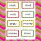 Word Wall with Letters and Words Burlap and Bright Theme