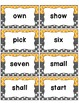 Word Wall with Picture Cards, Dolch and Fry Words (orange & charcoal gray)