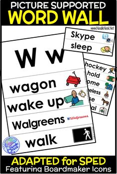 Word Wall with Pictures for LIFE Skills