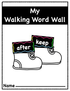 Chalk Theme Word Wall with Walking Word Wall Packet (Matching Word Packet)