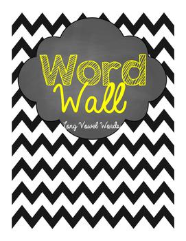 Word Wall words- Long Vowel 6 word lists- a_e, i_e, o_e, u_e, ee, ay