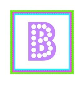Word Wall/Bulletin Board Letters