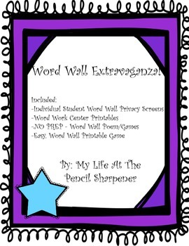 Word Wall/Sight Word/Spelling Pack