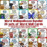 Word Wall Cards Bundle! 26 Sets in all!